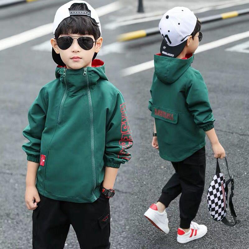Весенне осенние пальто для мальчиков, тонкие куртки для мальчиков, детская одежда в Корейском стиле, на рост от 100 до 160 см, куртки с капюшоном для мальчиков