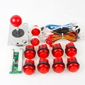 New Arcade USB Controller  Handle To PC Rocker + Joystick + 30mm LED Illuminated Push Buttons for Diy Kits Parts Mame Games