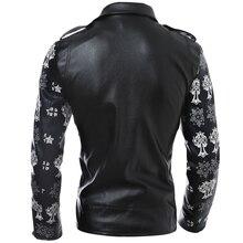 2017 Men Leather Jacket Coats Slim Fit Man Outdoor Jacket Sportsman Wear Harley New Fashion Skull Biker Jackets