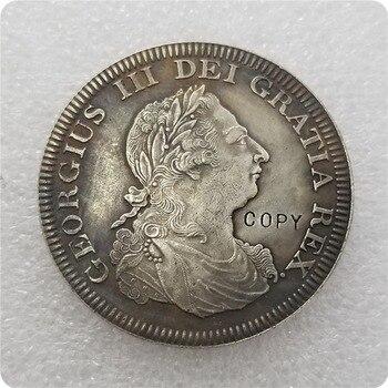 Copia réplica 1808 Corona del Reino Unido George IV moneda plata copia envío gratis