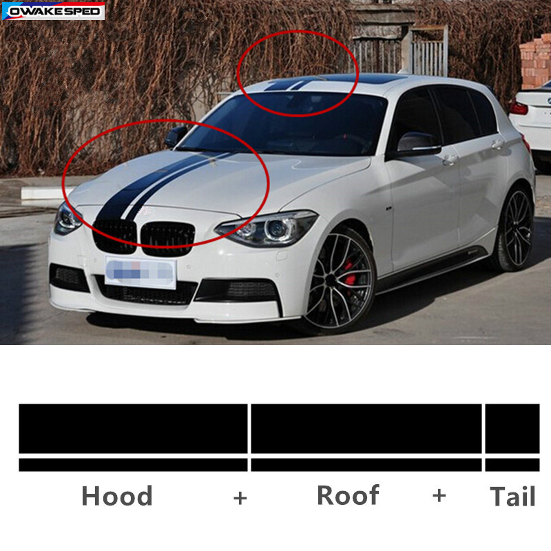 Car Hood Roof Tail Kk Sticker Racing Sport Stripes Auto Body