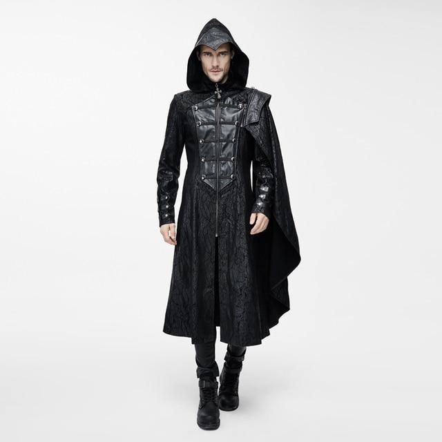 Mantel mit leder