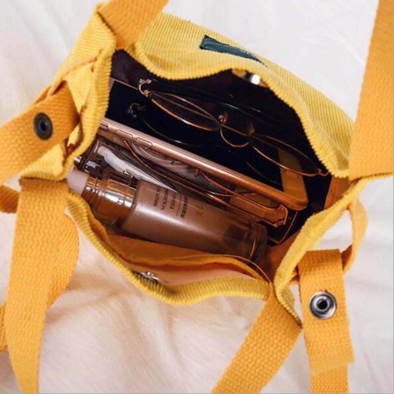 Xingming 2019 Designer Handbags High Quality Women Bag Vintage Corduroy Shoulder Bags New Bucket