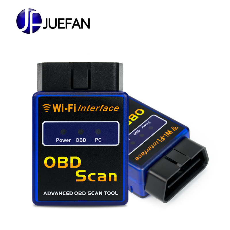 latest wifi bluetooth obd2 interface can bus scanner elm 327 obd ii supports android ios pc. Black Bedroom Furniture Sets. Home Design Ideas