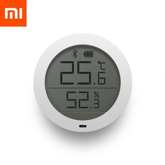 Original Xiaomi Mijia Bluetooth อุณหภูมิสมาร์ทความชื้นเซนเซอร์หน้าจอ LCD ดิจิตอลเครื่องวัดอุณหภูมิความชื้น Mi APP สต็อก