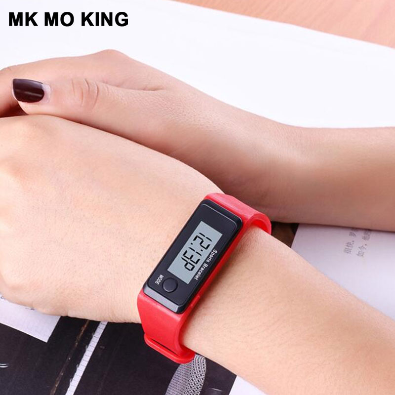Casual LED Fashion Trend Sports Simple Step Bracelet Men And Women Electronic Digital Watch Ladies Clock Relojes Couple Gifts