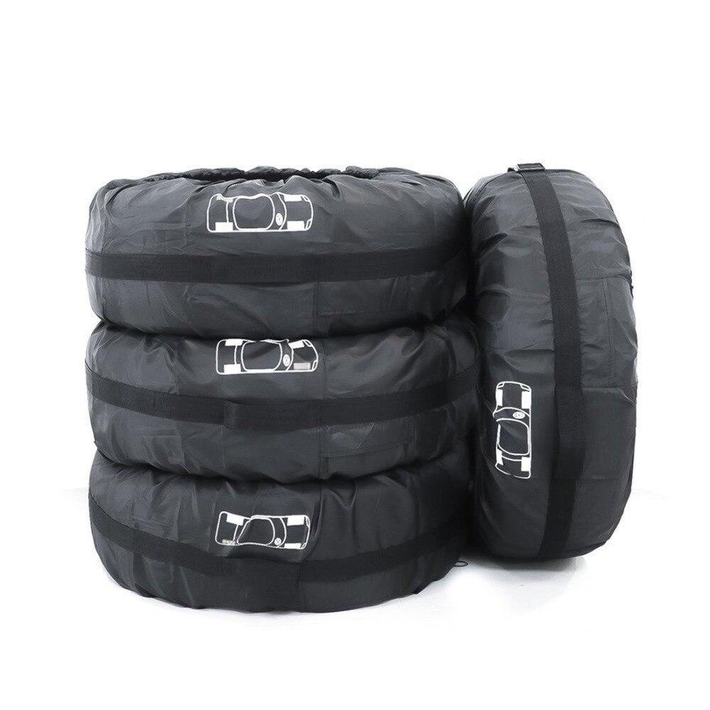 4 piezas de repuesto neumático cubierta poliéster invierno y verano neumáticos almacenamiento automóvil accesorios rueda del vehículo Protector