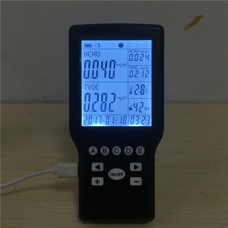 Digital Indoor TVOC air quality detector formaldehyde air quality monitor tvoc air quality monitor indoor smart formaldehyde air quality detector