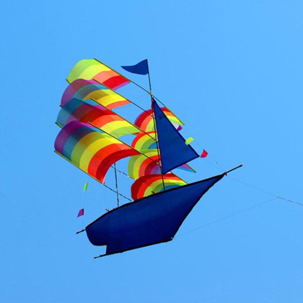 66*96 cm 3D Voilier Cerf-Volant pour Les Enfants adultes Bateau à Voile Cerf-Volant avec Ficelle et Poignée de Plage En Plein Air parc Sports - 2