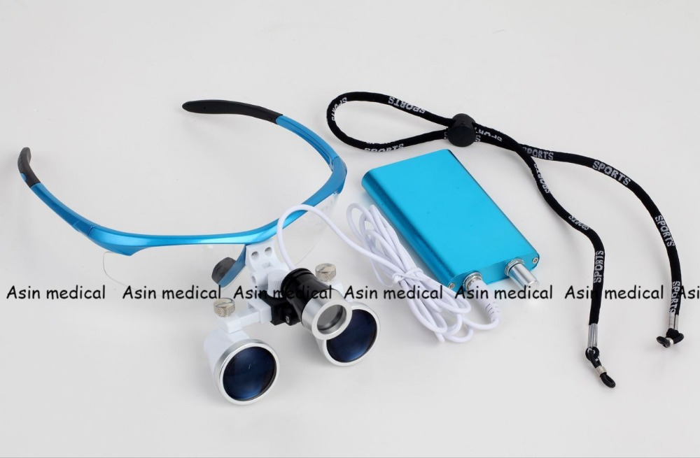 High Quality 2.5X420mm Portable Dentist Surgical Binocular Dental Loupe Optical Glass with LED Head Light LampHigh Quality 2.5X420mm Portable Dentist Surgical Binocular Dental Loupe Optical Glass with LED Head Light Lamp