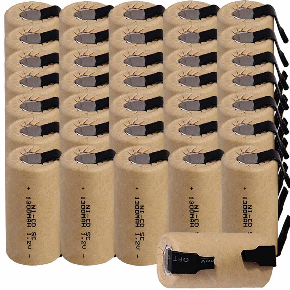 Le plus bas prix 36 pièce SC batterie 1.2 v batteries rechargeable 1300 mah nicd batterie pour outils électriques akkumulator