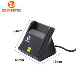 Zoweetek 12026-3 EMV USB Смарт-Кардридер писатель DOD военный USB общий доступ CAC смарт-кардридер для SIM/ATM/IC/ID карты