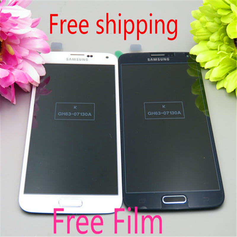 High Quality White LCD Display Digitizer Touch Screen Glass Replacement Assembly for S5 G900 G900f G900t