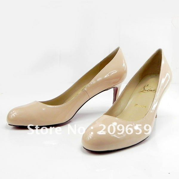 2012 Elegant Pink Lady's Evening Shoes Pumps, Med High