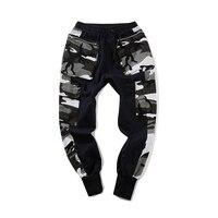 QoolXCWear Mens pants Military Style Casual Pants Camouflage Joggers Punk Sweatpants Winter Cargo Pants Streetwear
