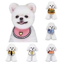 Милые банданы для кошек, собак, нагрудники, шарф, воротник, регулируемый шейный платок для домашних животных, слюнявчик, полотенце для маленьких, средних и больших собак