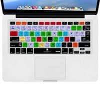 For Adobe Lightroom Design Keyboard Cover XSKN Brand LR Shortcuts Silicone Keyboard Skin For Macbook 13