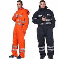 Men Work Overall winter warm Thick reflective oil proof hooded Coveralls wear resistant Uniform Workwear auto Repairman jumpsuit