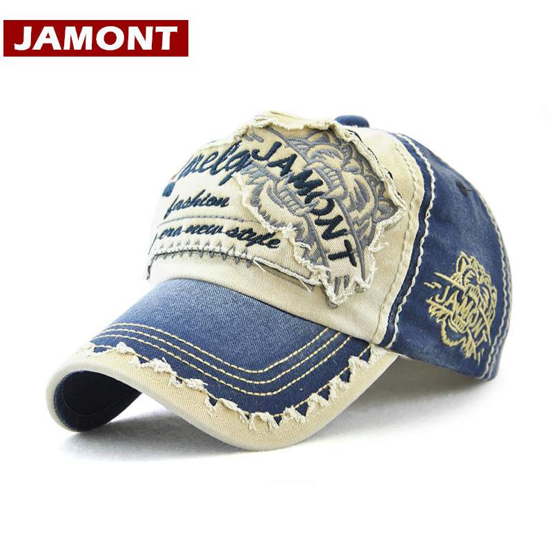 [JAMONT] 2018 New Baseball Cap Men Women Hat Snapback Caps Gorras Cotton Patch Distressed Trucker Hat Unisex Visor Casquette cntang summer embroidery letter w baseball cap fashion cotton snapback for men women trucker hat unisex casual caps gorras