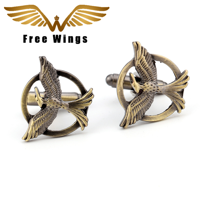 Hungry Bird Games Vintage Gothic Fashion Plane Styling Cuff links Men's AirPlane Cufflinks For Mens Gifts Cufflinks 2X2CM 5d2 image