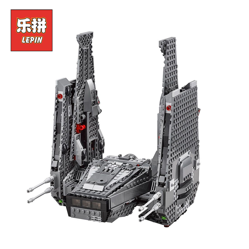 Lepin 05006 Star Series Wars Kylo Ren Command Shuttle lepin Building Blocks Educational Toys Compatible Legoinglys Gift 75104 new 1685pcs lepin 05036 1685pcs star series tie building fighter educational blocks bricks toys compatible with 75095 wars