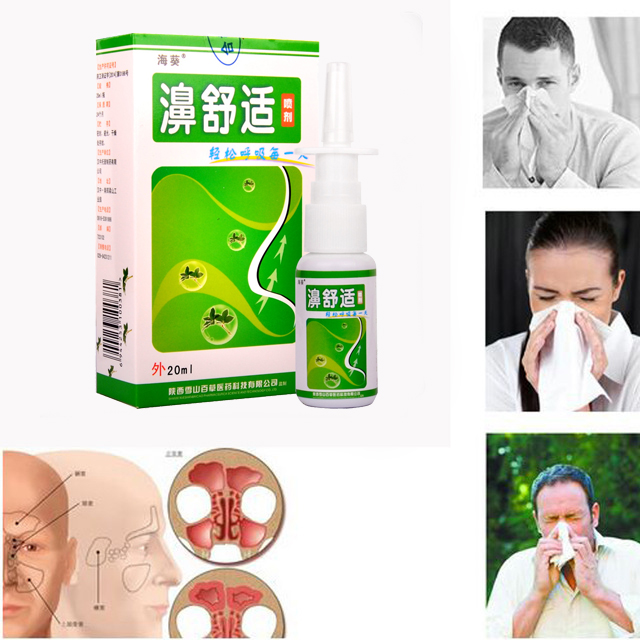 3PCS Chronic Rhinitis Sinusitis Spray Chinese Herb Medical Spray Cure Rhinitis Sinusitis