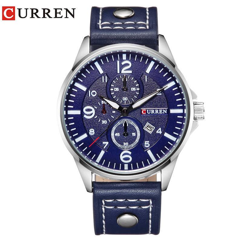 CURREN Luxury Casual Men Watches Analog Military Sports Watch Quartz Male Wristwatches Relogio Masculino Montre Homme8164 infantry luxury men watches analog military sports watch quartz male wristwatches relogio masculino world of tanks navy blue