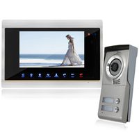 YSECU 7 Inch Screen Color LCD Video Door Phone Intercom Video Doorbell Intercom Home Intercom System