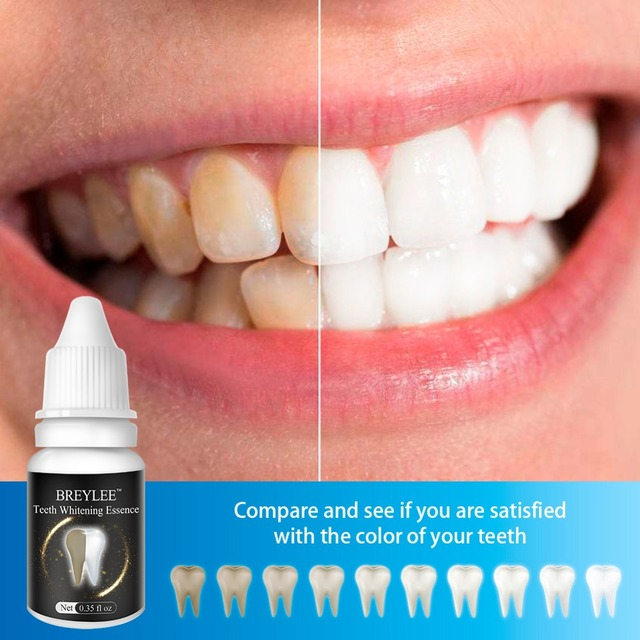 BREYLEE Teeth Whitening Essence Oral Hygiene Cleaning Serum White Gel Teeth Care Tooth Bleaching Dental Tools