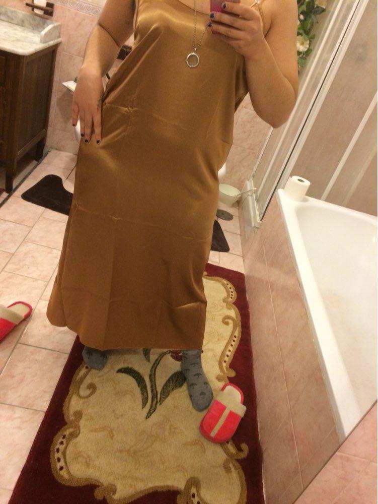 Plus Size XXXL 5 Colors Women Long Nightwear Faux Silk Satin Night Dress Girls Sleepwear Nightgown Nightdress Night Down B276 1
