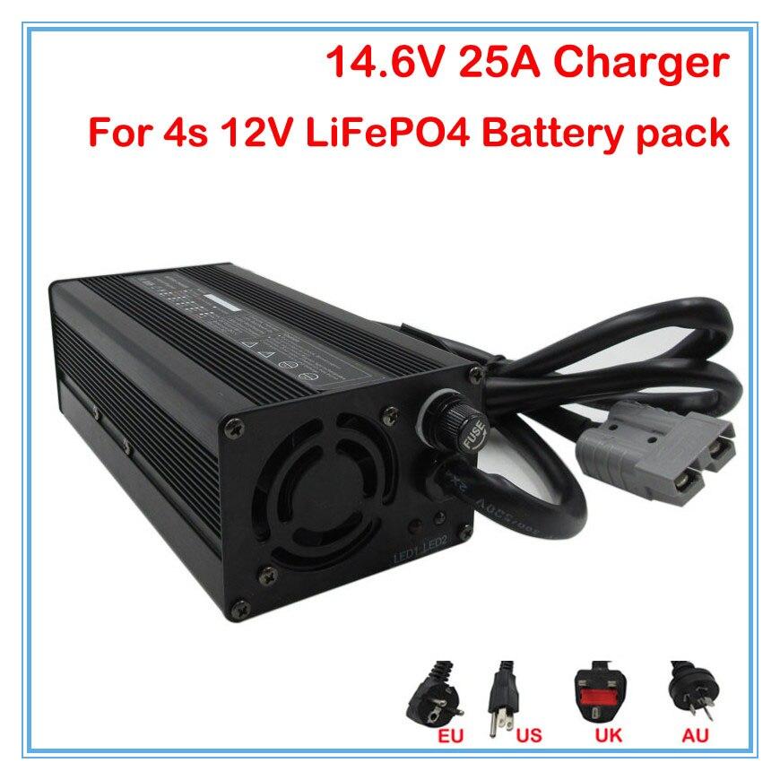 600 W Carregador de Bateria 14.6 V ebike carregador 25A 12 LiFePO4 V 25A Uso carregador inteligente para 4S 12 V liFePO4 bateria