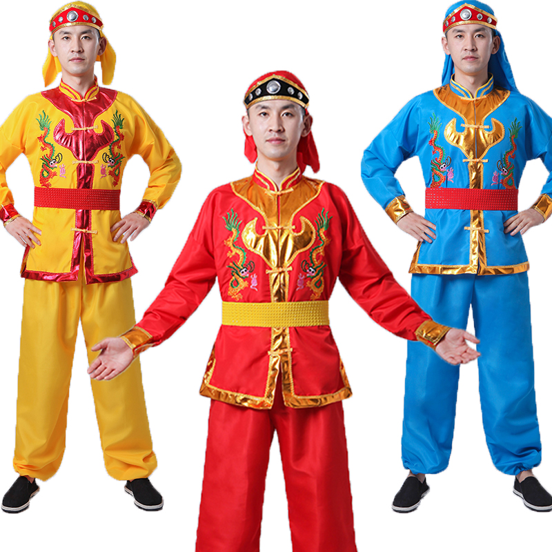 Yangko clothing drums performances dragon  lion dance costumes traditional China Chinese Folk Dance SHOW suit