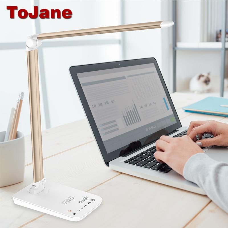 ToJane TG-168 настольная лампа 5 цветовых режимов x 7 Dimable уровней светодио дный Светодиодная настольная лампа для чтения 8 Вт eyсветодио дный E-friendly ...
