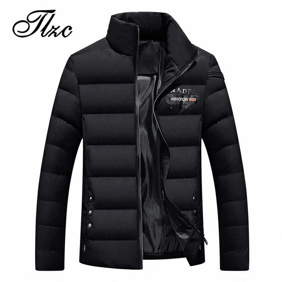 TLZC Winter Mode Männer Gepolsterte Baumwolle Mantel Ultraleicht Casual Mann Parka Mäntel Plus Größe M-4XL männer Winter Jacken Oberbekleidung