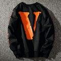 Otoño Invierno Sudadera Kanye Hombres Streetwear Floja del Suéter de La Vendimia Negro Vlone Sudaderas Men Hip Hop Hombres Mujeres Marea