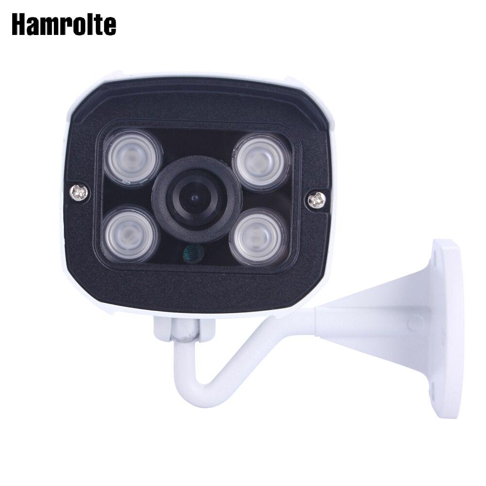 Cámara CCTV Hamrolte Cámara AHD 1080 p Alta Resolución 2,8mm lente gran angular visión nocturna impermeable Bullet cámara exterior