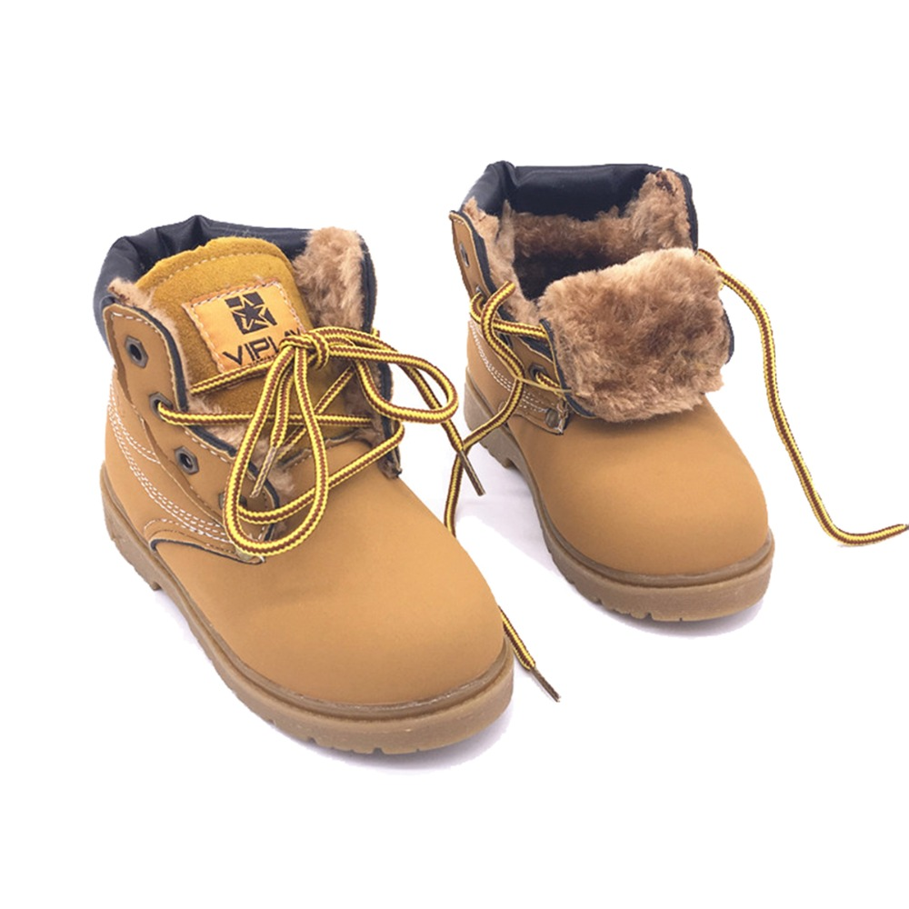 BOYS ANKLE BOOTS WINTER WARM ZIP UP BOOT KIDS GIRLS BEIGE BOOTS UK SIZE 10-3