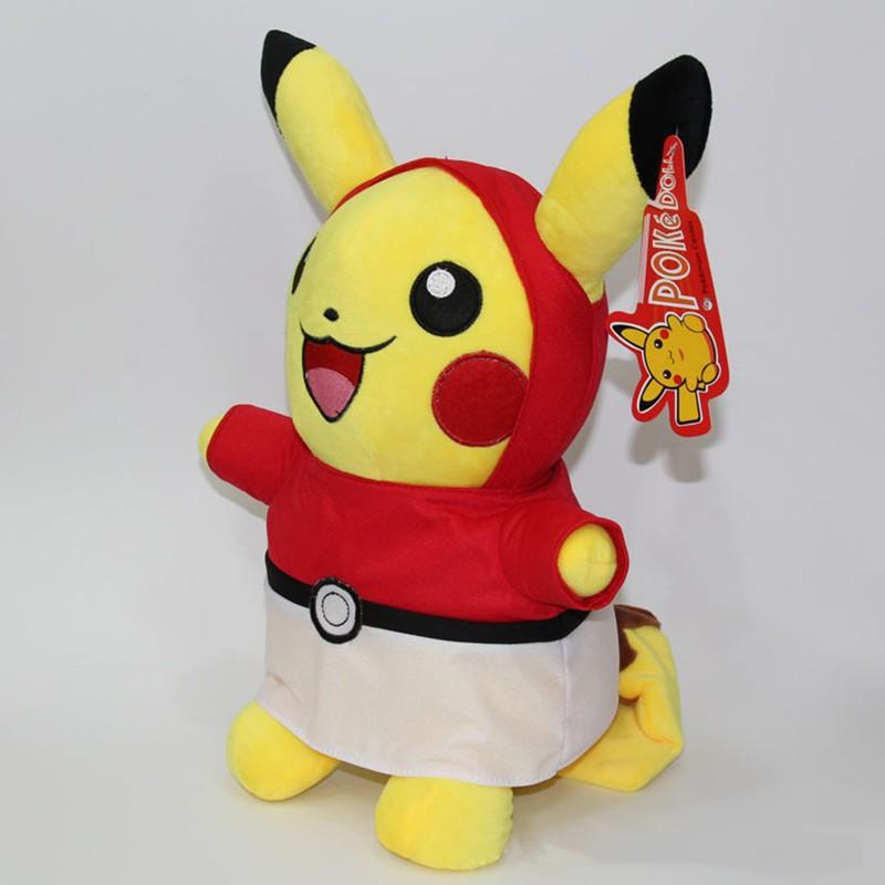 Kawaii Graduation Pikachu Cos Pokeball Cloth Plush Toys Soft Stuffed Animal Dolls for Children\'s Gift 13inch 32cm 2 Styles (3)