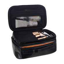 Double layer PU Lady's Cosmetic Organizer Make Up Tools and Accessories