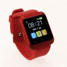 Moda U80 Bluetooth Inteligente Del Reloj Del Reloj smartwatch para iPhone 4 4S 5 5S 6 Samsung S4 Nota 2 3 htc xiaomi Teléfono Android