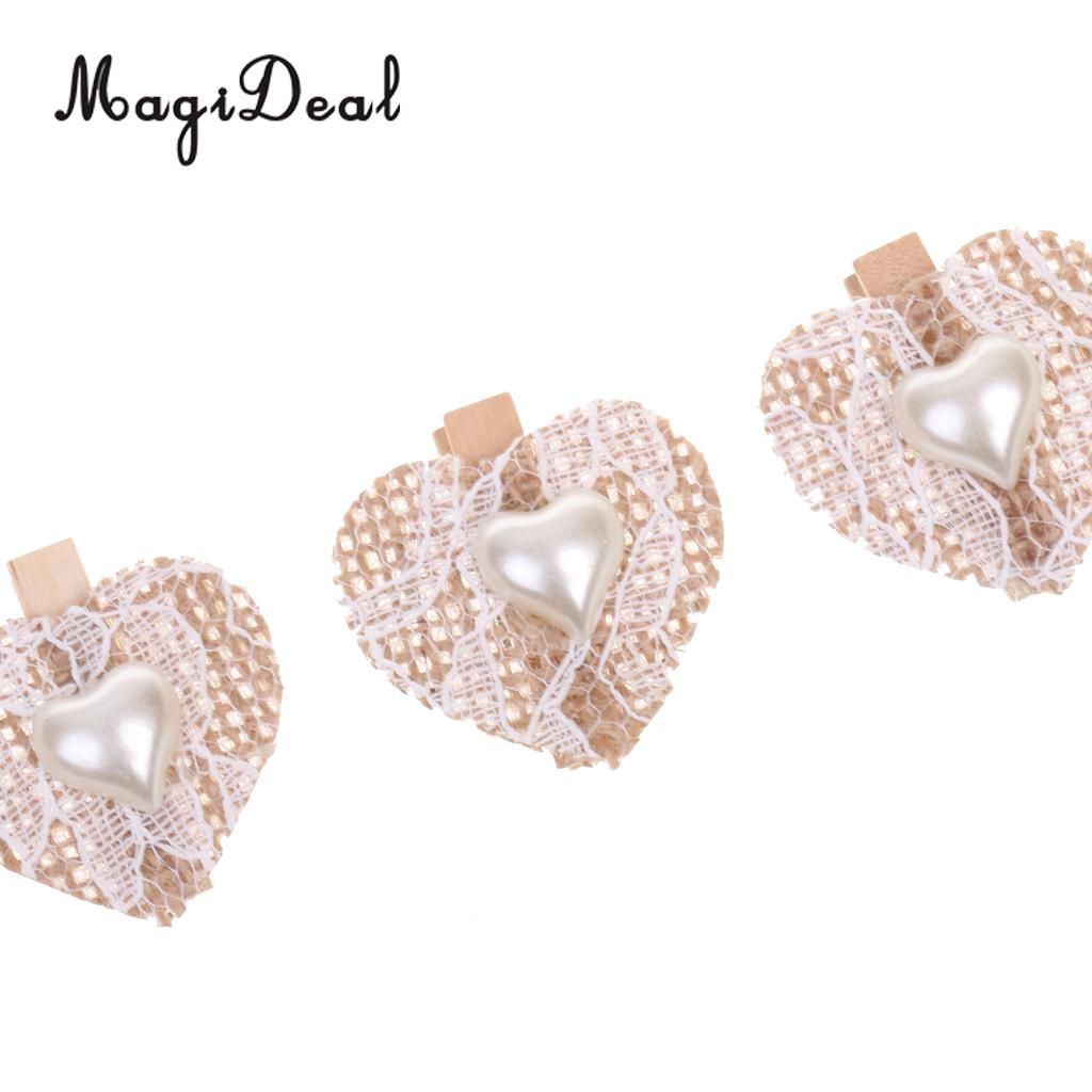 aliexpress : buy magideal novelty 4x wooden clips burlap lace