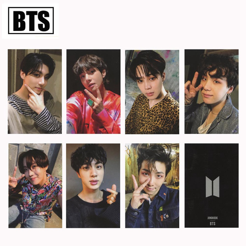 7 Pcs/set New Kpop Bts Photo Card Bangtan Boys Love Yourself Army Bomb Album Paper Cards Self Made Lomo Card Photocard