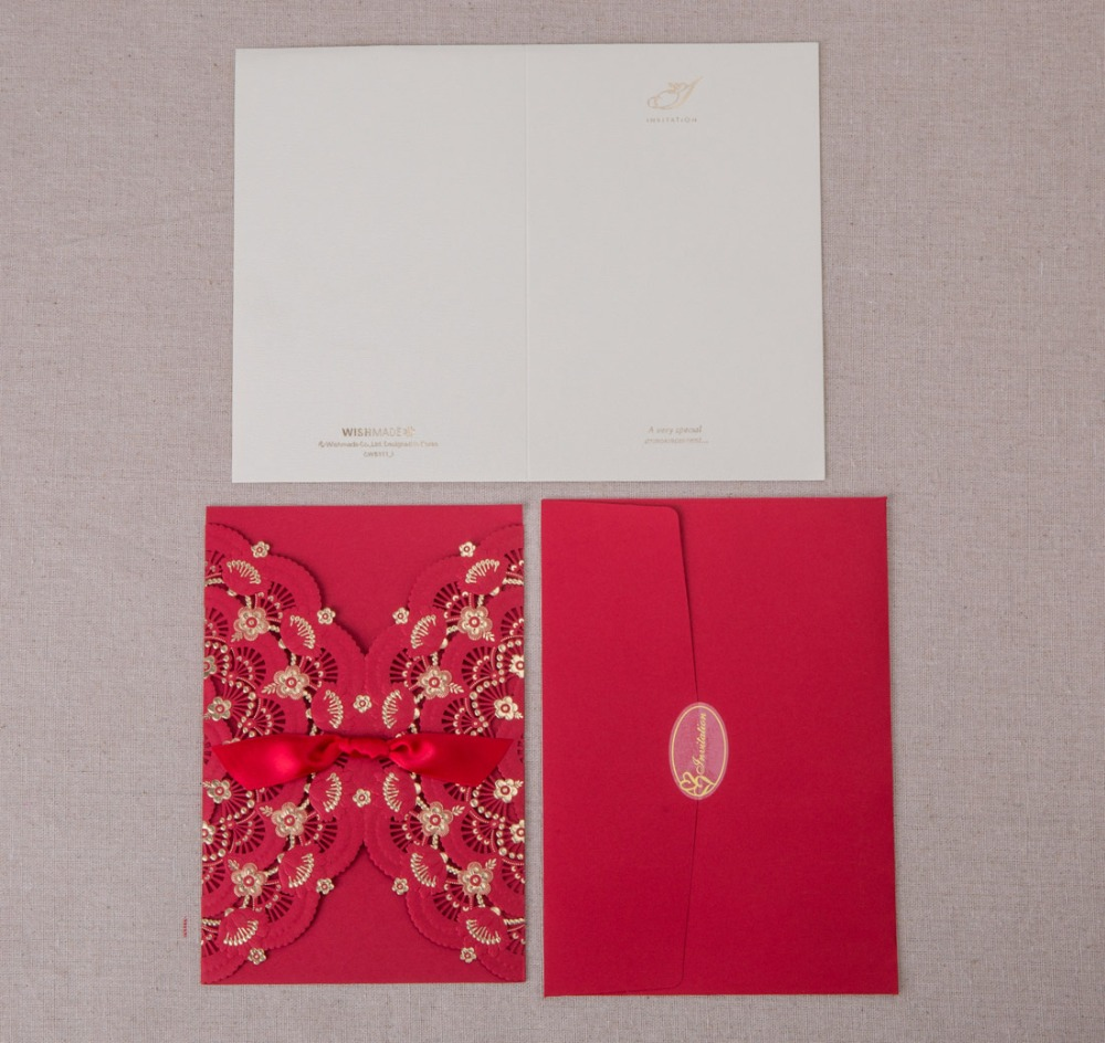 Laser Cut Wedding Invitations Cards Engagement Flora Birthday Paper ...