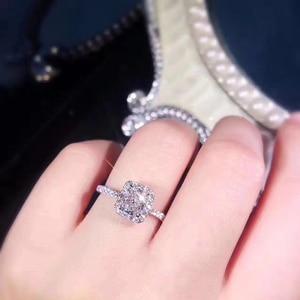 Image 5 - STARYEE 1CT promieniowania Cut Moissanite pierścionek zaręczynowy prawdziwe 18 K białe złoto diament Fine Jewelry dla kobiet Charles Colvard VS F klejnoty