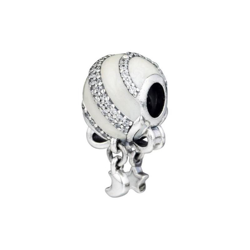 Original 100% Sterling 925 Silver Christmas Gift Bag Charm With Enamel Fits Pandora Bracelet Beads DIY Making Jewelry For Women