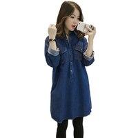 Women Denim Shirts Autumn Womans Loose Oversized Jeans Tops Boyfriend Style Blue Denim Blouses Woman Casual Shirts Plus Size Top