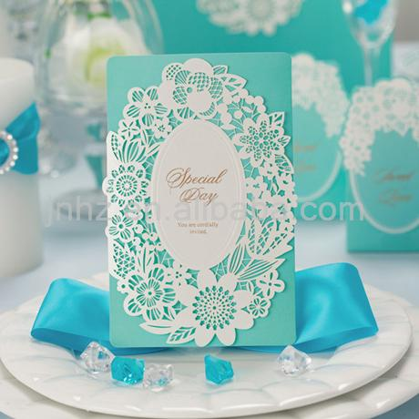 2015 New Arrival Summer Blue Sea Theme Invitation Card For Wedding