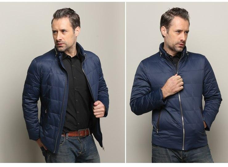 Online Shop New Fashion Men Neck Zipper Brown Blue Business Casual ...
