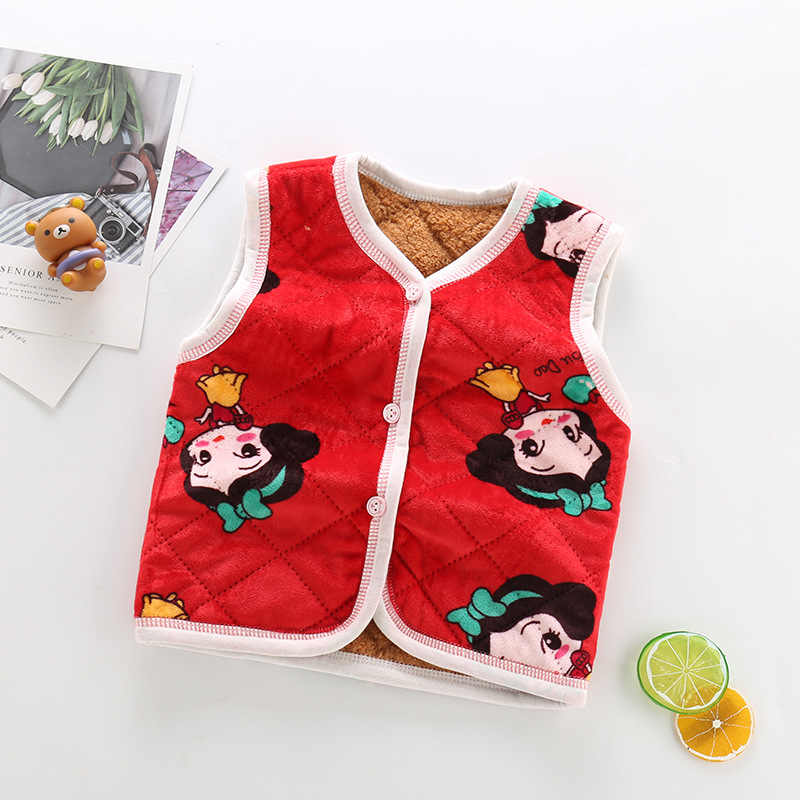 זול סתיו חורף חם ילדים וסטים עבור בני בנות חם רך הלבשה עליונה לעבות צמר מעילי Gilet מעילי תינוק
