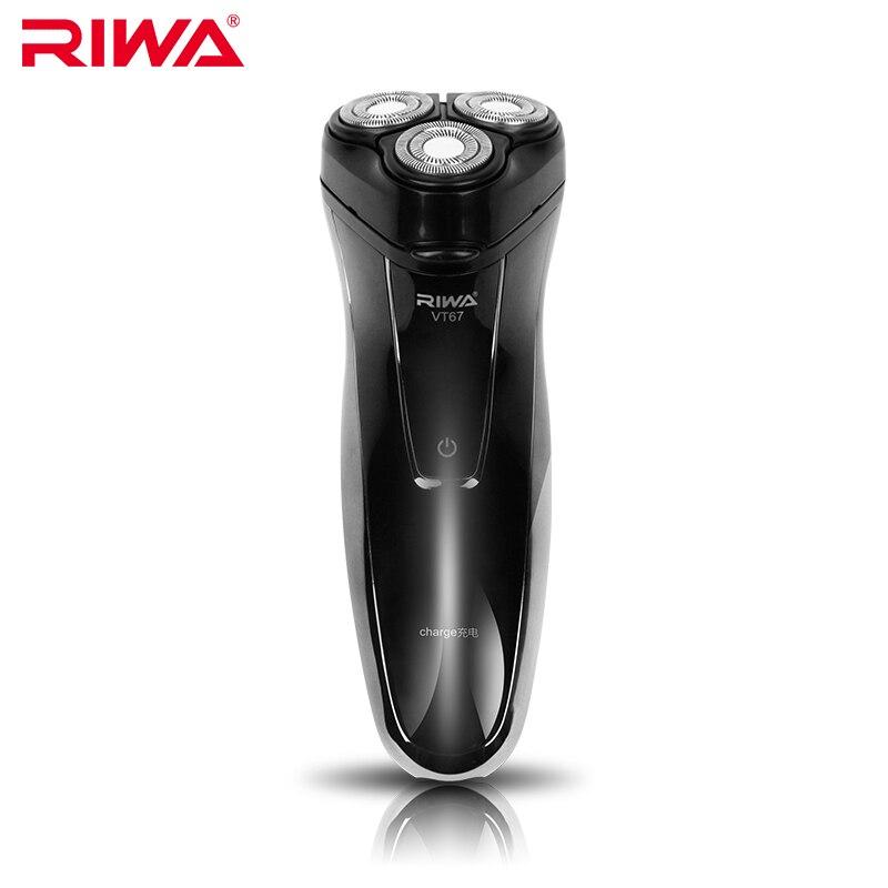 riwa barbeador eletrico recarregavel dos homens triple blade navalha de barbear eletronico face care 3d barbeador